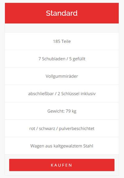 Mittlerer Werkzeugwagen für  Deutschland, Düsseldorf, Wuppertal, Dortmund, Bochum, Essen, Duisburg, Münster, Köln, Bonn, Frankfurt (Main), Stuttgart, München, Nürnberg oder Dresden, Leipzig, Berlin, Hamburg, Bremen, Hannover, Bielefeld